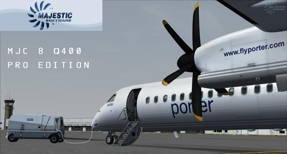 Majestic Dash 8Q-400, Ready for your control!