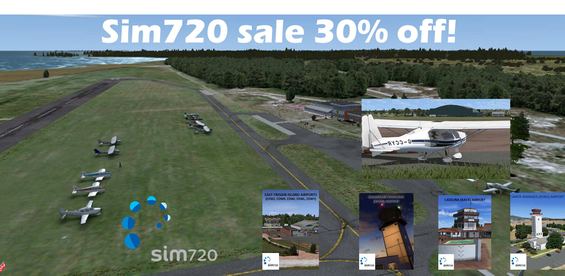 Sim 720 Holiday sale 30% off!