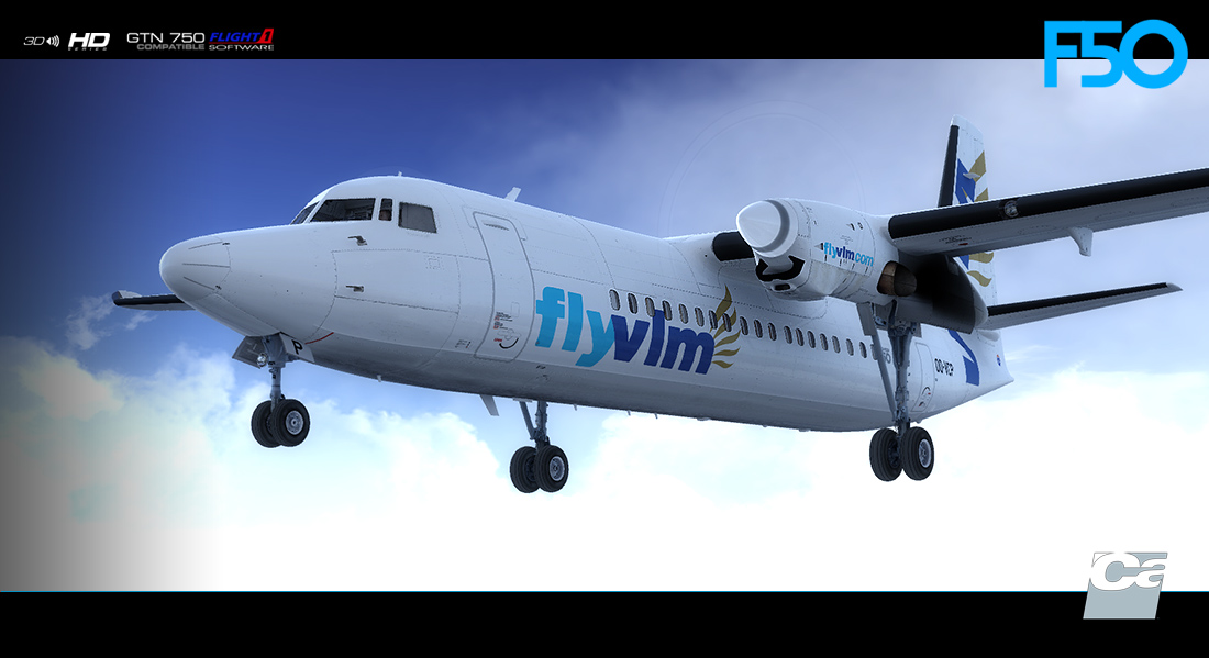 Carenado Fokker 50 for FSX and P3D V3 V4