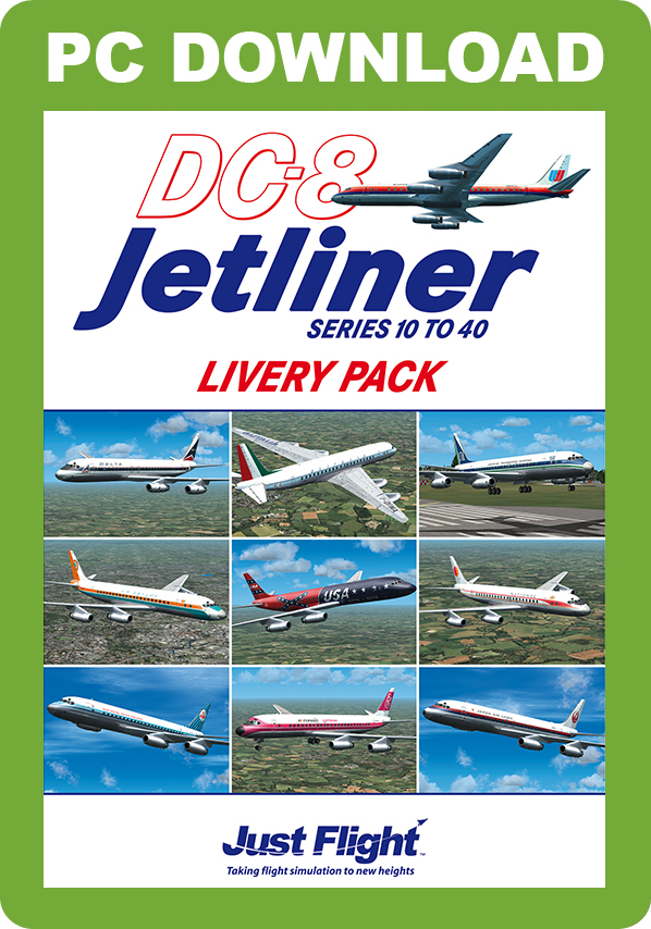 Just Flight LIVERY PACK FOR JUST FLIGHT'S DC-8 JETLINER SERIES 10 TO 40