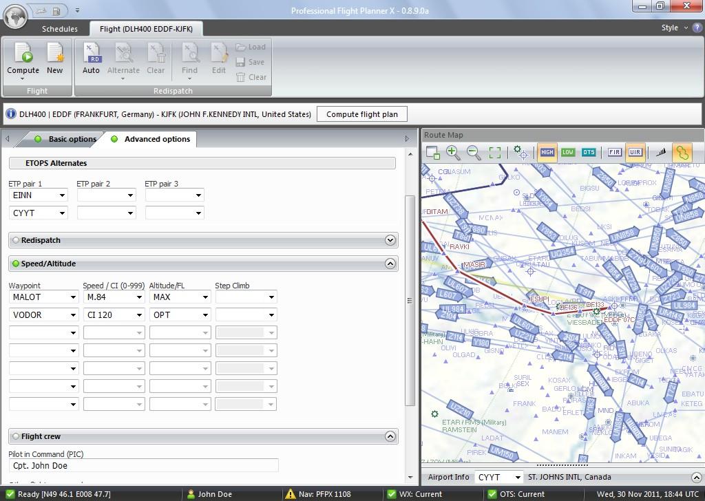 Aerosoft Professional Flight Planner X