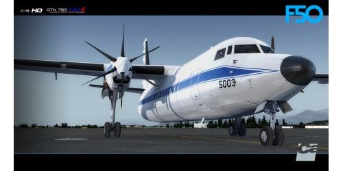 Carenado Fokker 50 for FSX and P3D V3 V4